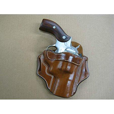 Azula OWB Leather 2 Slot Molded Pancake Belt Holster for Ruger Redhawk Kodiak 2.75