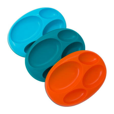 Boon PLATE Edgeless Nonskid Plate, Baby Plate, Blue, Orange & Green, 9 Pk Arthur Baby Plate