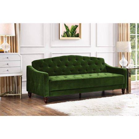 Take an interactive tour - Novogratz Vintage Tufted Sofa Sleeper II, Multiple Colors