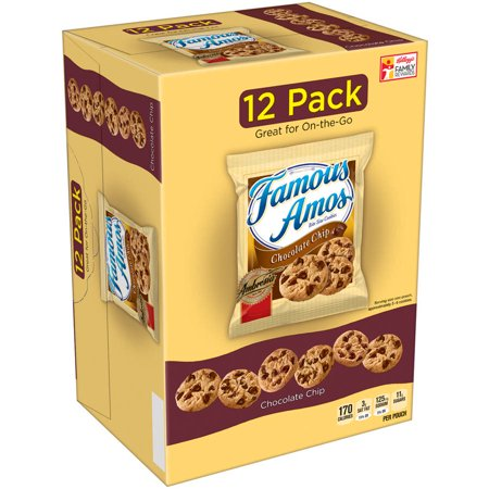 Famous Amos Chocolate Chip Bite Size Cookies Multipack - 12ct