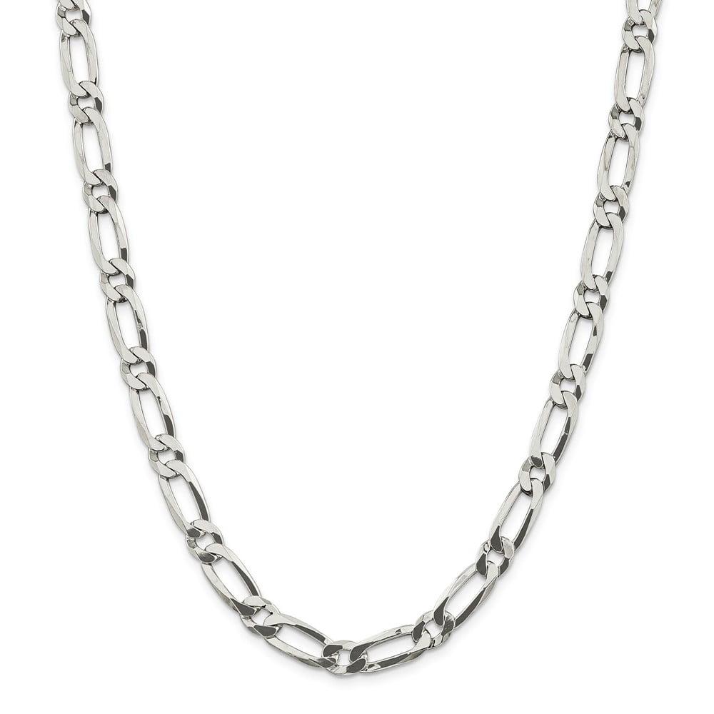 Sterling Silver 7in 8.1mm Open Link Bracelet