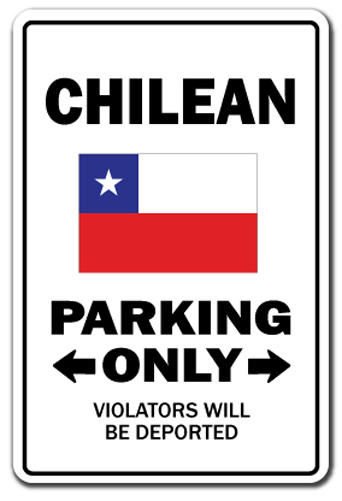 Chilean Parking of Vinyl Decal Stickers 3 Pack for Laptop Car