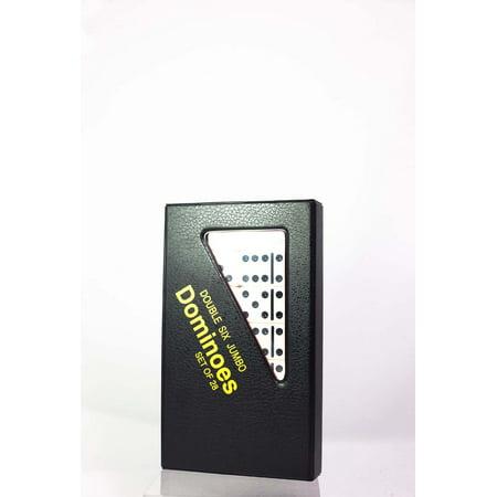 CHH Double Six Jumbo Domino Ivory (Black Dot Domino Set)