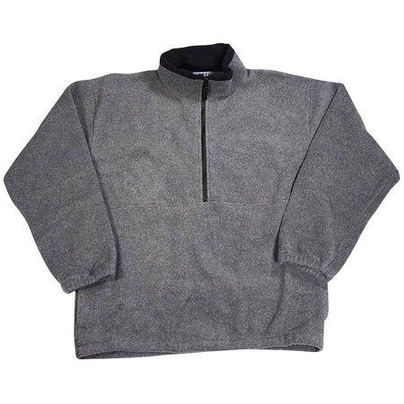 - Kaynee - Big Boys Polar Fleece 1/2 Zip Pullover Ash Gray / 18/20