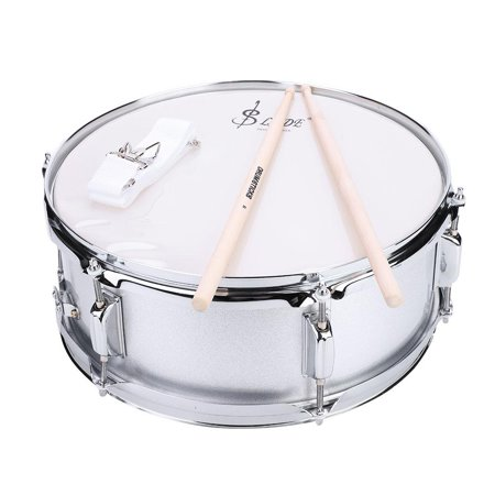 HURRISE Stainless Steel Snare Drum 15.7