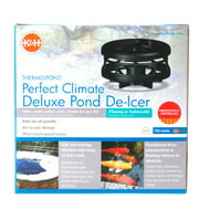 """K&H Thermo-Pond Perfect Climate Deluxe Pond De-Icer 750 Watt - Ponds 100-1,200 Gallons - (6\"""" Diameter x 5\"""" High)"""