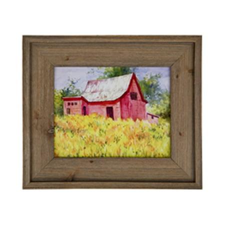 Unfinished Decorative Wood Frames (Vintage Barnwood Open Back Unfinished Unique Natural Grain Wood Picture Frame - 11x14
