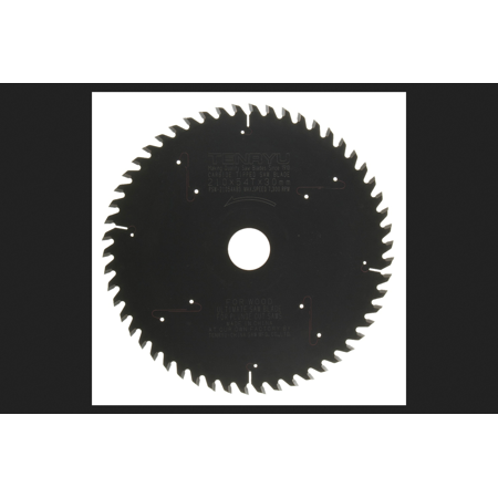 Tenryu 210 mm Dia. x 30 mm PTFE Coated Plunge Cut Saw Blade 54 teeth 1