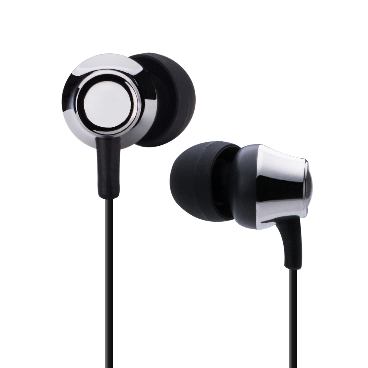 AGPTEK K3 In-Ear Earbud Headphones with Microphone, Noise Isolating Corded Headsets for iPhone, Smartphone Etc, Black