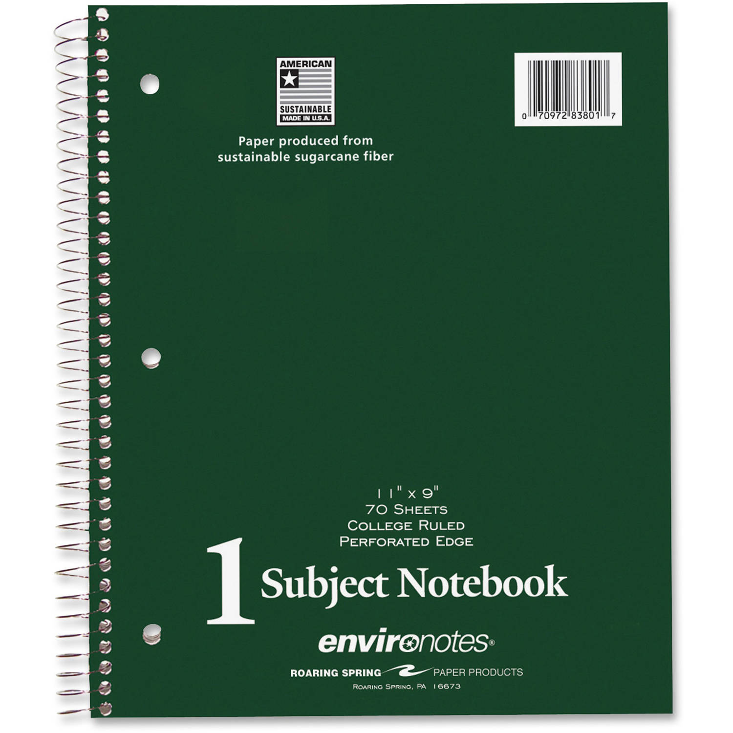 Roaring Spring 1-Subject Notebook, Assorted