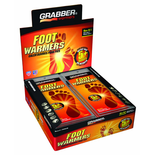 Grabber Foot Warmers 30 pair/box, M/L