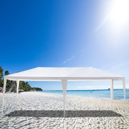 10' x 20' Outdoor White Waterproof Gazebo Canopy Tent with 4 Removable Sidewalls and Windows Heavy Duty Tent for Party
