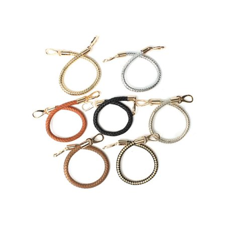 1PC 7-Colors PU leather Round DIY Shoulder Bag Purse Handle Replacement Handbag Strap