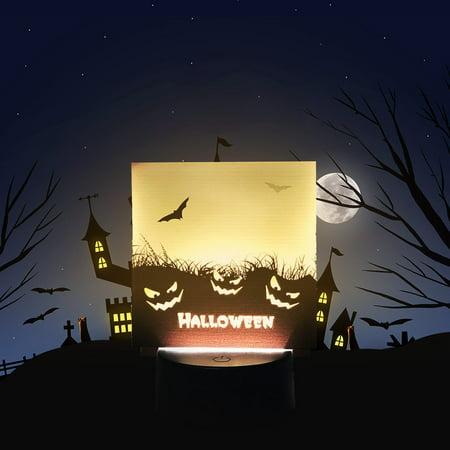 Harry Styles Halloween Layout (Halloween Night Pumpkin Bar Style Nightlight Scene Layout Pillar Night)