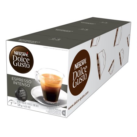 Nescafé Dolce Gusto Espresso Intenso Coffee Pods, Full Bodied, 48 Count (3 Packs of 16 Pods) ()