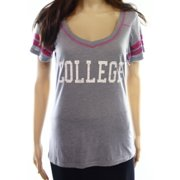 Honeydew NEW Gray Women's Size Small S College Graphic Tee T-Shirt