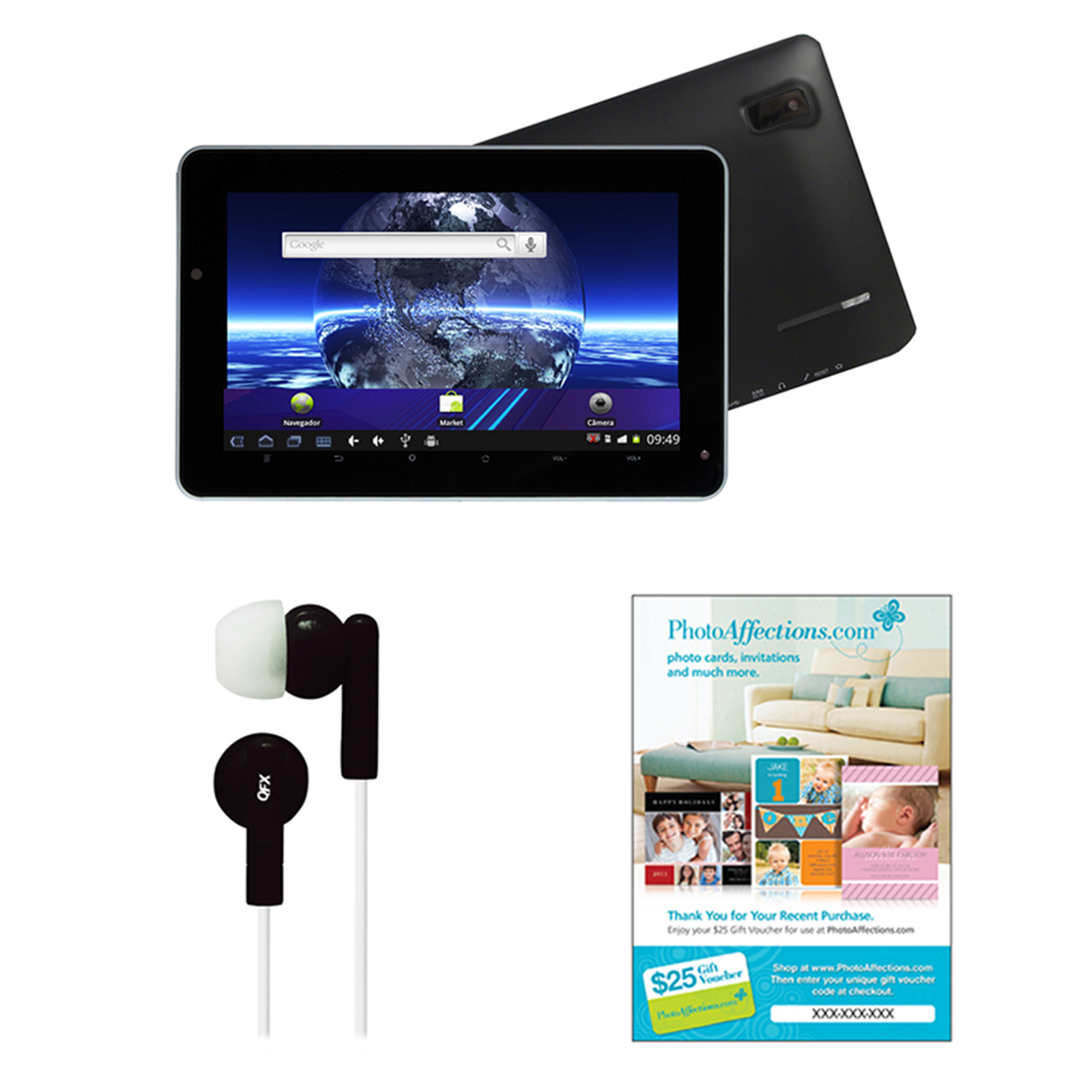 BUY Supersonic 7″ Android 4.1 Touch Screen Tablet with Earbuds and $25 Voucher NOW