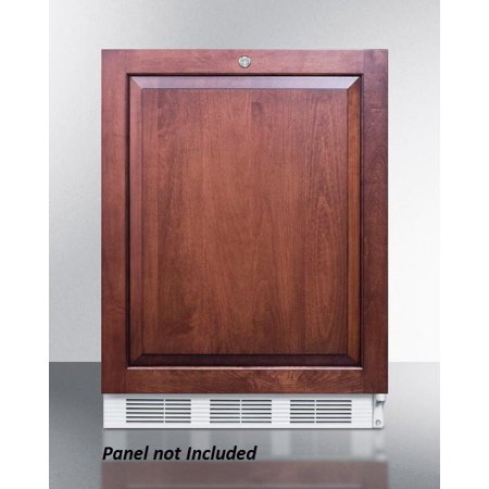 AL650LBIIF 24 ADA Compliant Top Freezer Refrigerator with 5.1 cu. ft. Capacity  Dual Evaporator  Cycle Defrost  Zero Degree Freezer and Door Storage in Panel Ready