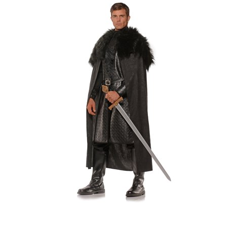 Underwraps Halloween Renaissance Winter Lord Cape, Black, One Size (Winner Halloween)