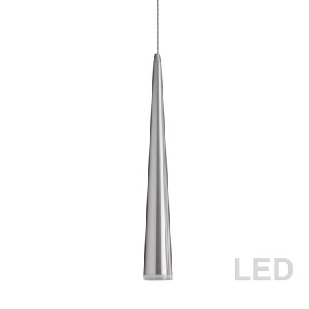 Dainolite 5W LED Pendant, Satin Chrome - Lid Satin