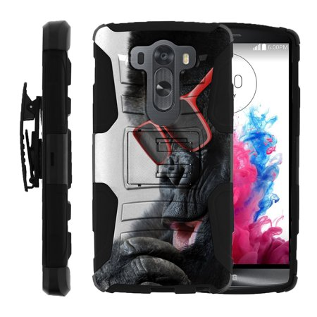 Pro Squirrel (LG V10 and LG G4 PRO Miniturtle® Clip Armor Dual Layer Case Rugged Exterior with Built in Kickstand + Holster - Gorilla with Sunglasses)