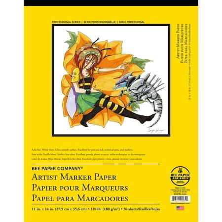 """Bee Paper Artist Marker Pad 11"""" x 14"""""""