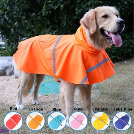 Waterproof Dog Raincoat Hooded Jacket XL Size Pet Clothes Hoodie Jacke