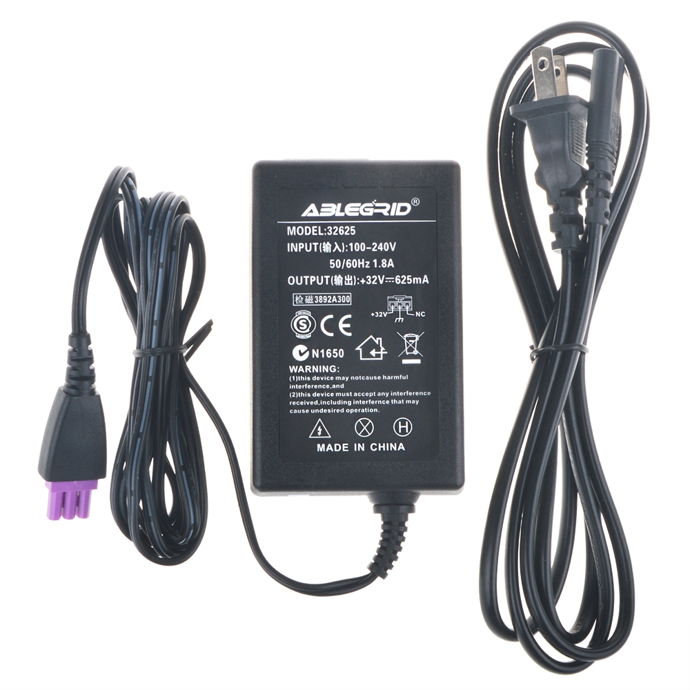 ABLEGRID AC Adapter Power Supply 32V 625mA 0957-2242 0957-2269 for HP Deskjet F4210 F4230 F4235 F4240 F4250 F4272 F4273 F4274 F4275 F4280 F4283 F4288 F4292 F4293 OfficeJet J4524 J4580 J4624 J4660