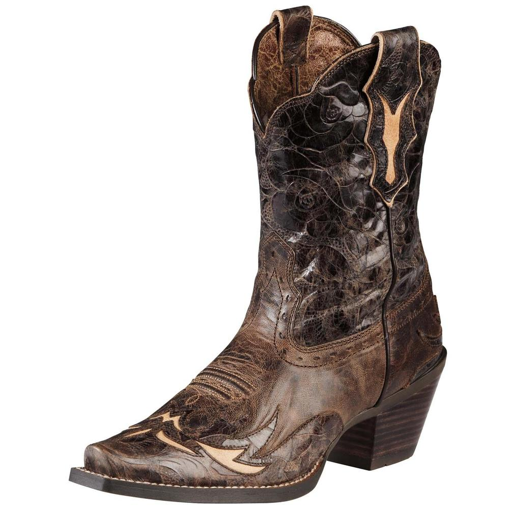 Ariat Dahlia Women Square Toe Leather Brown Western Boot by Ariat