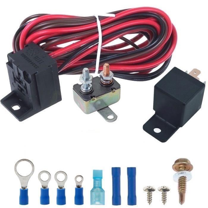 12V ELECTRIC RADIATOR FAN GROUNDING THERMOSTAT RELAY WIRE HARNESS ONLY KIT  - Walmart.com - Walmart.com | Pt Cooling Fan Wiring Harness |  | Walmart