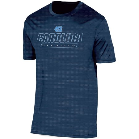 Men's Russell Navy North Carolina Tar Heels Embossed Synthetic T-Shirt