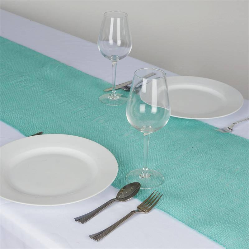 Efavormart CHAMBURY CASA Fine Rustic Burlap Table Top Runner For Wedding Birthday Party Banquet Decor Fit Rectangle and Round Table