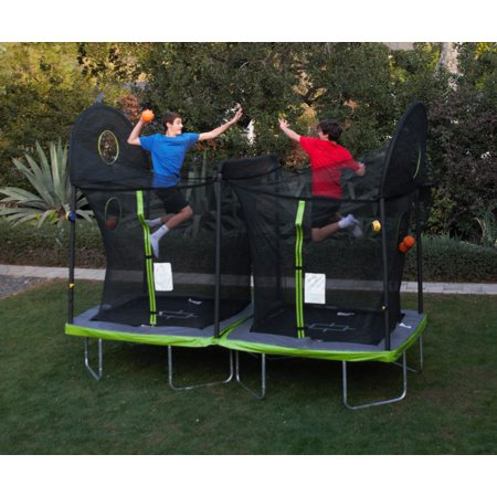 Trujump 12 X 6 Foot Battle Ball Trampoline With Enclosure