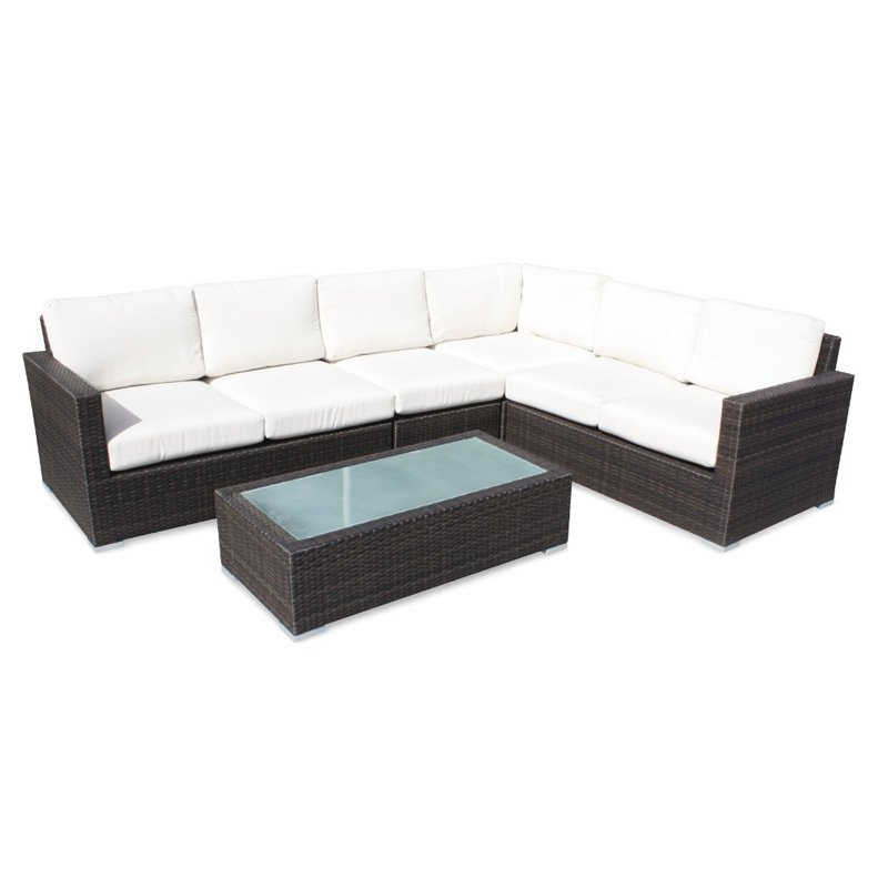 Source Outdoor Lucaya All-Weather Wicker Sectional Conversation Set