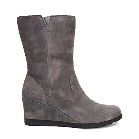 0364e5e837e UGG Australia Womens Joely Leather Round Toe Mid-Calf Cold Weather Boots