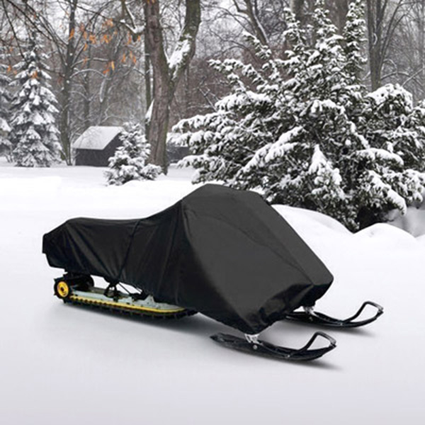 """Snowmobile Cover Fits 126""""-138"""" Black Polyester"""