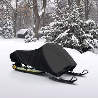 "Snowmobile Cover Fits 126""-138"" Black Polyester"
