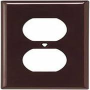 Cooper Wiring Device 5132B-BOX Wallplate 1G Duplex Receptacle Nylon Standard, Brown