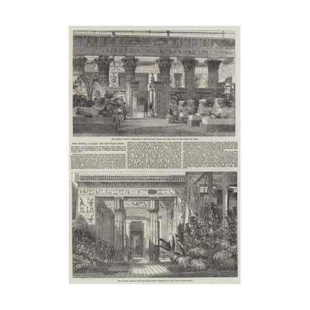 - The Crystal Palace, the Egyptian Court Print Wall Art