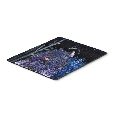 Starry Night Bouvier des Flandres Mouse Pad / Hot Pad / Trivet