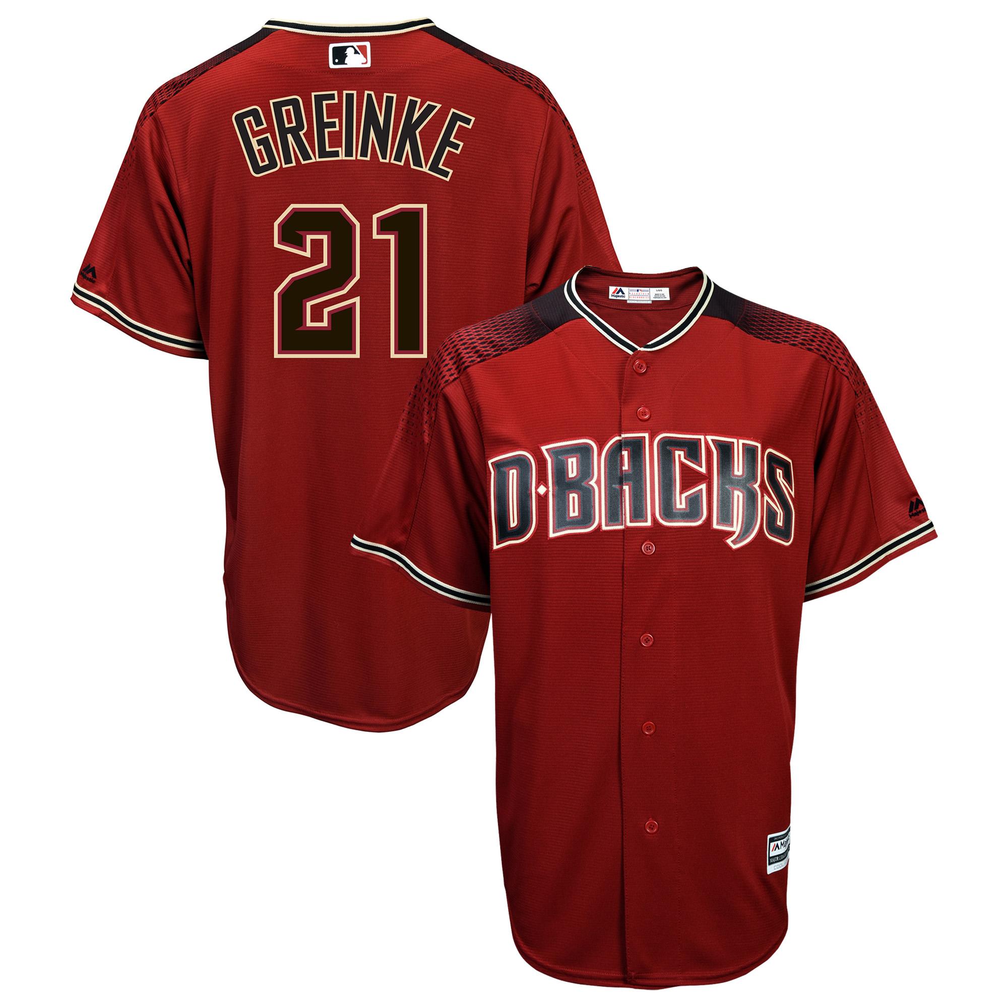 Zack Greinke Arizona Diamondbacks Majestic Official Cool Base Player Jersey - Sedona Red/Black