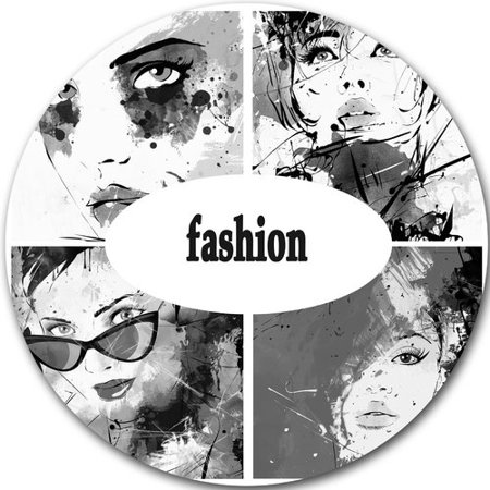 Design Art 'Collage of Girl Faces' Graphic Art Print on (Face Paint Designs)
