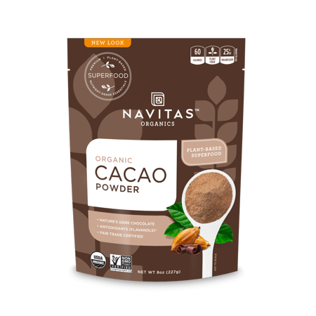 Navitas Organics Cacao Powder, 8.0 oz (Difference Between Cocoa Powder And Cacao Powder)