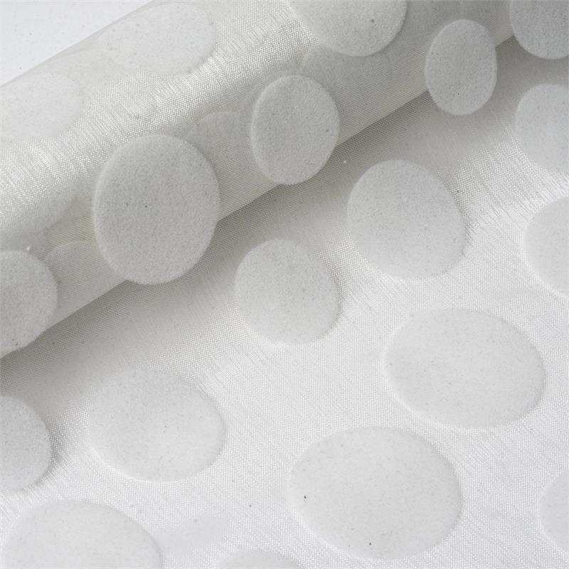 "BalsaCircle 12"" x 10 yards Velvet Dots on Organza Fabric Bolt Put-up - Sewing Crafts Draping Decorations Supplies"