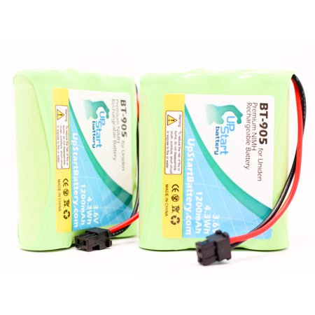 2x Pack - Uniden EXP-920 Battery - Replacement for Uniden Cordless Phone Battery (1200mAh, 3.6V, NI-MH) - image 4 de 4