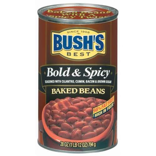(6 Pack) Bush's Best Baked Beans Bold & Spicy, 28 Oz