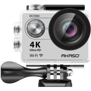 AKASO 4K WIFI Sports Action Camera Ultra HD Waterproof DV Camcorder 12MP 170 Degree Wide Angle, Black (EK7000)