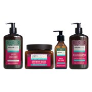 Arganicare Repairing Keratin Shampoo, Conditioner, Serum and Hair Masque Set with Certified Organic Argan Oil.