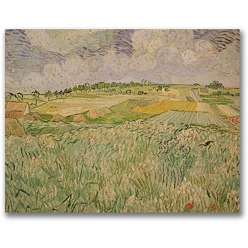 "Trademark Fine Art ""The Plains of Auvers"" Canvas Wall Art by Vincent van Gogh"