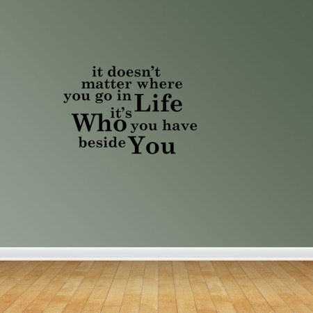 Who Beside You Quote Vinyl Wall Decals Vinyl Decals Romantic Quote Lov